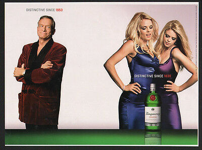 2002 TANQUERAY London Dry Gin - HUGH HEFFNER VINTAGE AD