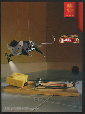 2003 SMIRNOFF Vodka - Mouse Stealing Cheese -  VINTAGE AD