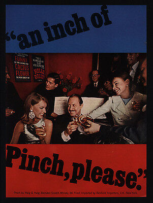 1967 HAIG & HAIG PINCH Blended Scotch Whisky - An Inch of Pinch - VINTAGE AD