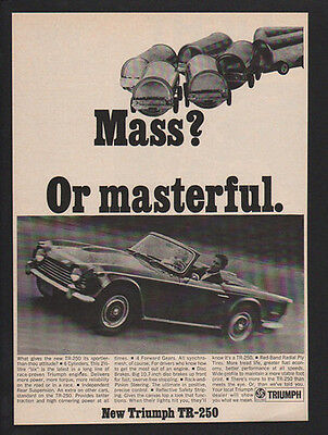 1968 TRIUMPH TR-250 Convertible Sports Car - Mass Or Masterful? - VINTAGE AD