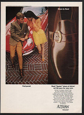 1969 AZTRAN Men's Shoes  - Sports Car -  VINTAGE AD