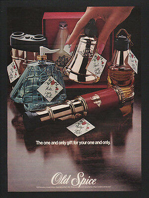 1973 OLD SPICE Cologne - The One & Only Gift For Your One & Only VINTAGE AD