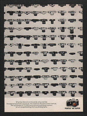 1981 PENTAX ME SUPER 35mm Camera - All The 35mm's In The World - VINTAGE AD