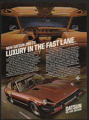 1981 Datsun 280-ZX Turbo ZX Classic Vintage Advertisement Ad A99