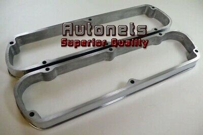 "SB Ford 289-302-351W Polished Aluminum Valve Cover Spacer 1-3/8"" Riser Hot Rod"