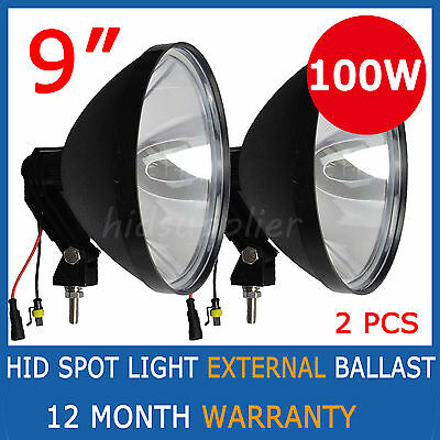 2x 100W 9inch 240mm HID XENON Driving lights Spot Beam Working UTE SUV Offroad