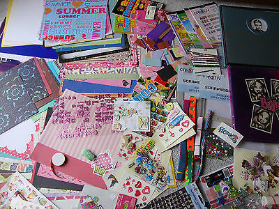 Bulk lot kids scrapbooking albums/decorating supplies new and used over 5KG!