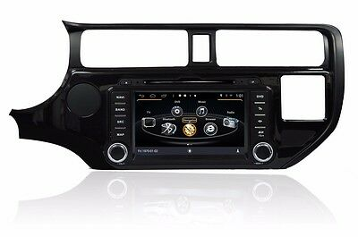 "8"" Android 4.4 Car DVD GPS Player TPMS For Kia RIO spice K3 Pride Rio 2011-2013"