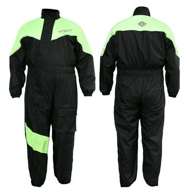 Motorcycle Rain Suit Wet Weather Pants Jacket 100% Waterproof Suit 1 PC Suit