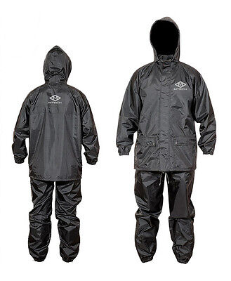 Motorcycle Rain Suit 100% Water Proof Rain Wet Weather Pants Jacket 2 PC Suits
