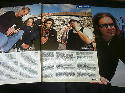 KORN - 5 PAGE ARTICLE from metal hammer magazine