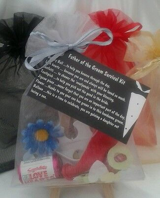 Father of the Bride / Groom Survival Kit , Wedding Favour Gift Present Marriage