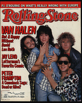 1986 Vintage ROLLING STONE Magazine COVER ONLY - VAN HALEN