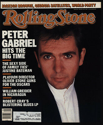 1987 Vintage ROLLING STONE Magazine COVER ONLY - PETER GABRIEL