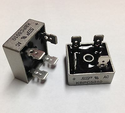 Bridge Rectifier 1ph 50A 1000V 50 Amp Metal Case - 1000 volt 50A Diode 2pcs