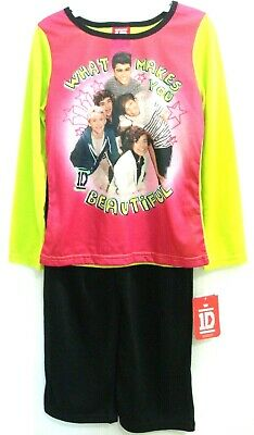 One Direction What Makes You Beautiful Girls' 2 Piece Pajama Set Size 6 New