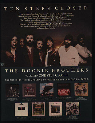 1981 THE DOOBIE BROTHERS - ONE STEP CLOSER & 9 Other Albums - VINTAGE AD