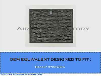 """BROAN 97007894 COMPATIBLE GREASE RANGE HOOD FILTER 9-7/8""""x11-5/8""""x3/8"""" 2-PACK"""