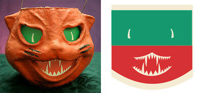 Glassine Paper Replacement Face For Cat Head Paper Mache Lantern #w