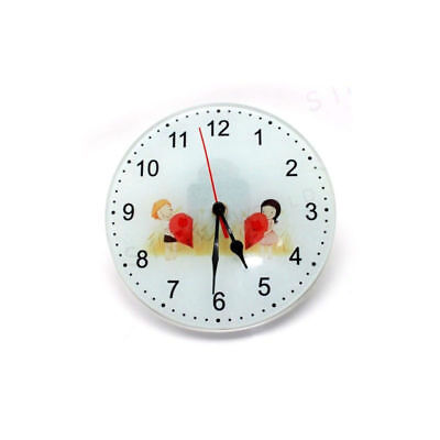 30cm Frosted/Clear Glass Clock for Sublimation Heat Press - Components Included