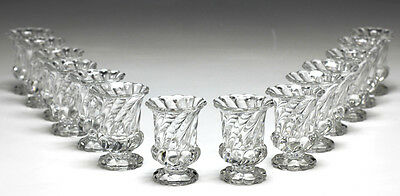 Pair of Baccarat Crystal Bambous Tors Swirl Cigarette Holders