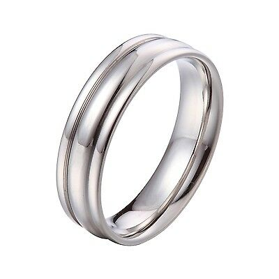 US Seller Silver 12mm Stainless Steel Wedding Band Ring Size 8-15 SR33