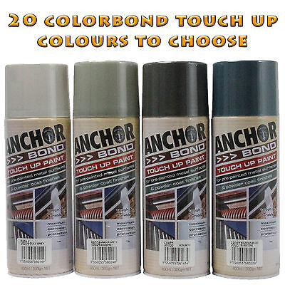 Anchorbond Colorbond Touch Up Spray Paints - 20 Colours To Choose From