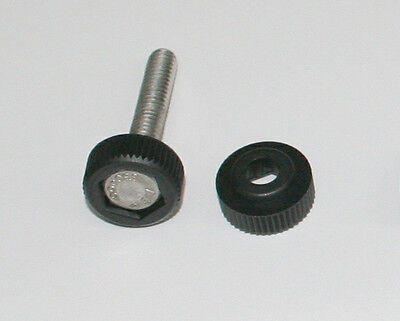 Nylon Knurled Thumb Cap for 1/4-20 Hex Head Bolts, Pack of Ten Pcs.