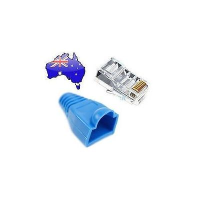 25 set Clear RJ45 CAT5E CAT6 Modular Plug with Boot Network Connector Broadband