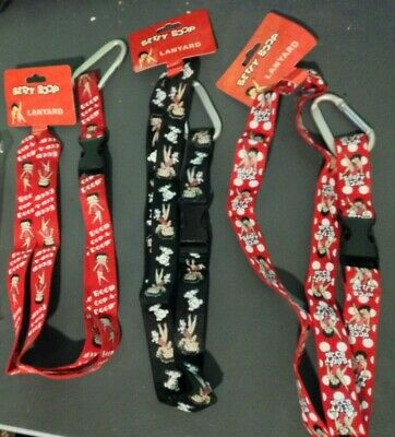 Choose ONE (Send Message) from Five Betty Boop key chains or lanyards, New