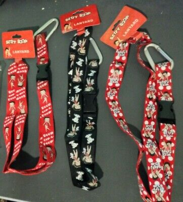 Choose ONE (Send Message) from Six Betty Boop key chains or lanyards, New