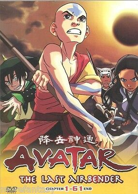 DVD Avatar-The Last Airbender Complete Ep. 1-61 End (ENGLISH Version)