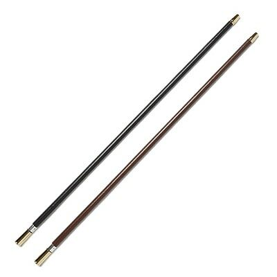 Leather Covered Show Cane with Silver Tips - Black or Brown