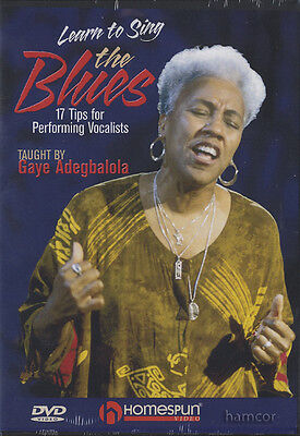 Learn to Sing the Blues Vocal Tuition DVD by Gaye Adegbolola