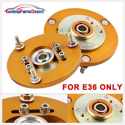 For BMW 3 Series E36 1991-1998 Front Coilover Camber Plate Top Mount Cap +/-3