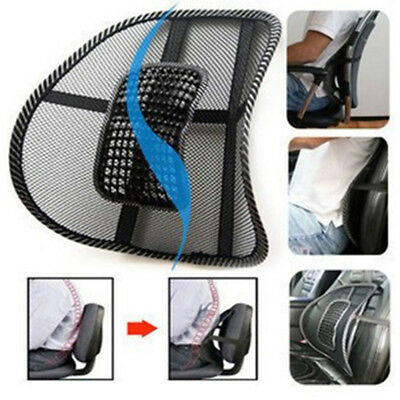 1X Cool Mesh Lumbar Back Brace Support Cushion Backrest for Truck Car Seat Chair