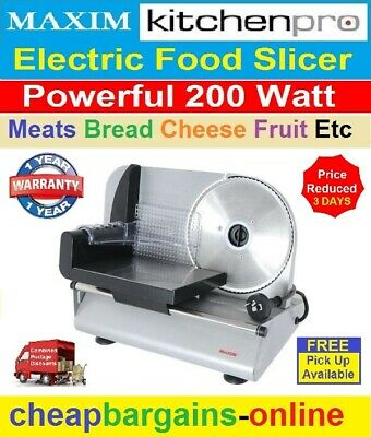 Food Meat Slicer 200W Electric Deli Cutter Cheese Fruit Vegetables Bread Cutter