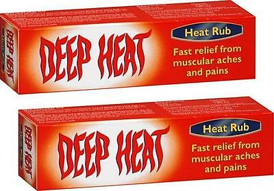 DEEP HEAT RUB 35g X2 TWIN PACK - FOR MUSCULAR ACHES & PAINS