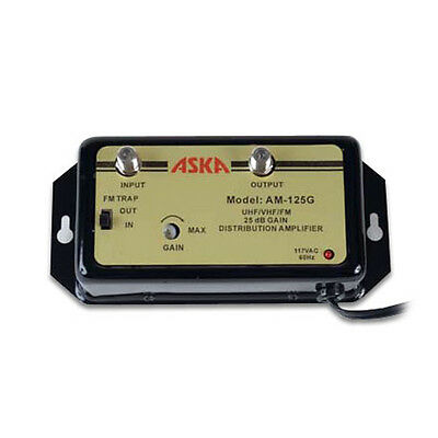 ASKA AM-125G 25 dB Distribution Amplifier with Gain and Tilt Control 1 GHz Amp