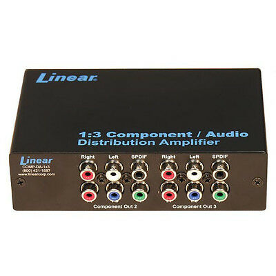 Channel Plus COMP-DA-1X3 1.3 Component Audio Distribution Amplifier Multiplex 3