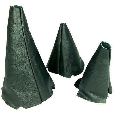 Set 3 Leather Gear Gaiter Fits Land Rover Discovery Mk1 Mk2