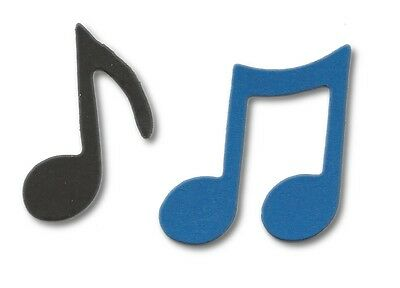 54 ASSORTED MUSIC NOTES FOR CHRISTMAS DIE CUTS SILHOUETTES CLEFS QUAVERS ETC
