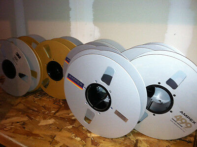 RMGI, Ampex, or 3M 2 inch audio tape empty take up reel, excellent condition