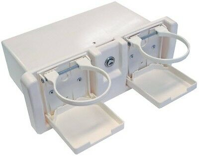 BOAT GLOVE BOX MARINE Grade Glove Box for Boats With Drink ,Holders NEW WHITE