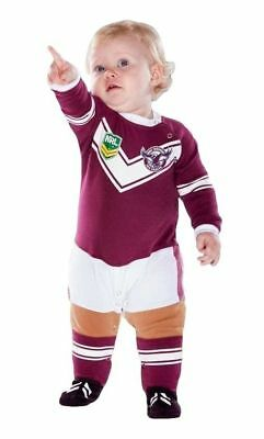 Manly Sea Eagles NRL Toddler Footysuit 'Select Size' 000-3 BNWT Infant Jersey