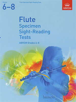 Flute Specimen Sight Reading Tests Grades 6-8 ABRSM Music Book