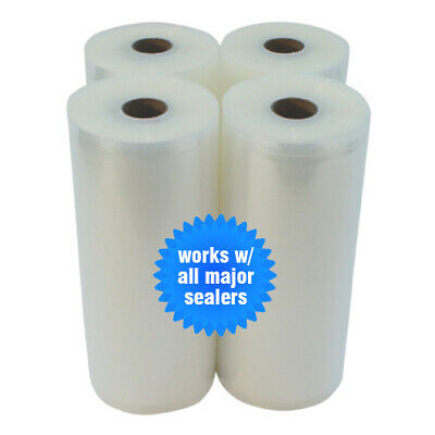 "4 GIANT ROLLS 8"" x 50' Food & Storage Vacuum Sealer Bags! Great Money Saver!"