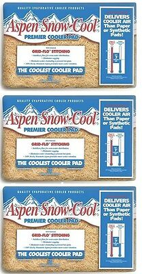 Aspen Snow Cool Water / Swamp Cooler Replacement Pads (lot of 3 Pads)