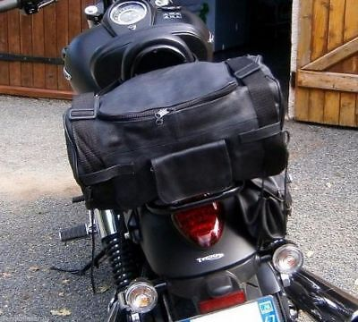 Sac pour sissi bar en Cuir souple ( custom harley virago shadow intruder VN )