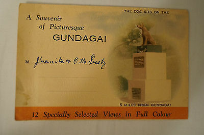 Gundagai - N.S.W. - Vintage - Collectable - 12 Picture Sheet Folding Card.
